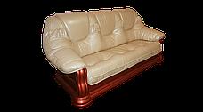 Шкіряний диван Грізлі лайт, не розкладний диван, м'який диван, меблі з шкіри, фото 3