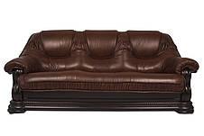 Кожаный диван Гризли лайт, раскладной диван, мягкий диван, мебель из кожи, диван, фото 3