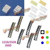 10шт 1210/3528 красочные SMD монтажа LED Свет лампы бисера для прокладки