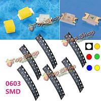 10шт 0603 SMD монтажа красочные LED Свет лампы бисера для прокладки