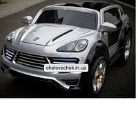 Детский электромобиль Porshe Cayenne (серебро)