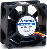 Корпусный вентилятор chieftec thermal killer af-0625s,60мм,2200 об/мин,3pin/molex,23dba