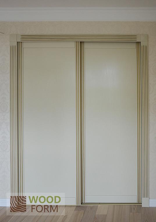 Шкафы-купе + гардеробная в классическом стиле