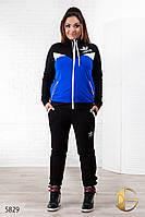 """Спортивный костюм женский больших размеров из двунитки """"Адидас"""""""