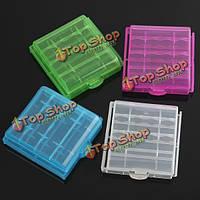 1шт пластиковой коробке случай для хранения 4x14500/аа литий-ионный аккумулятор