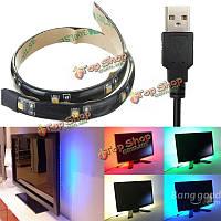 Светодиодные полосы света 30 см 3528 Водонепроницаемый с USB Порт-кабель супер яркий DC 5V