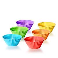 Набор силиконовых форм для кекса banquet 6 шт. festa (312604290-a)
