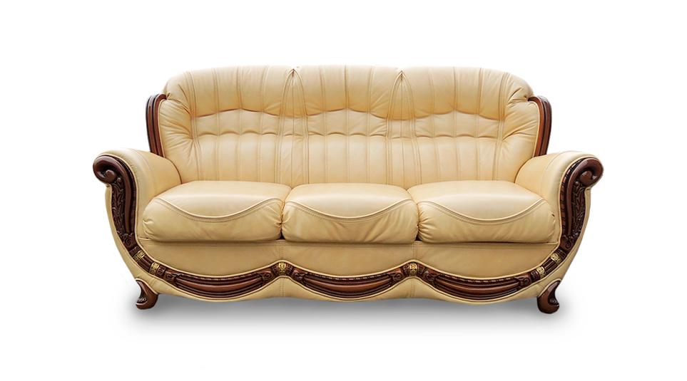 """Кожаный четырехместный раскладной диван """"Джозеф"""" (240см)"""