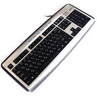 Мультимедийная клавиатура a4 tech kl-23mu ps/2 silver+black usbport headphone x-slim
