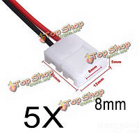 2-пин разъем питания адаптер для 3528/5050 LED прокладка провода с PCB
