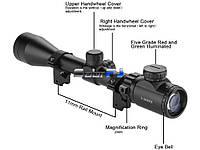 Оптический прицел с подсветкой шкалы 3-9x40E + кольца 11мм.