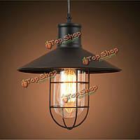 Промышленные Винтаж Эдисон свет железную клетку потолочный светильник 110-240В
