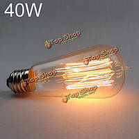ST58 Е27 40Вт 220В ретро Эдисон лампы накаливания водослива