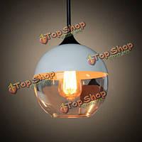 Мода черный/белый стеклянный глобус бар подвесной потолочный светильник Е27 220В