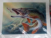 "Вафельная картинка ""рыбалка """