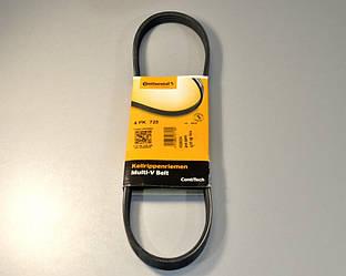 Поліклинові (ручейковий) ремінь на Renault Kangoo II 1.6 (ALT) 2008-> ContiTech (Німеччина) 4 PK 725
