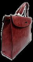 Сумка женская сиреневая портфель строгая