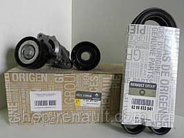 Комплект ремня генератора ГУР + АС (ремень + 2 ролика) Renault Original