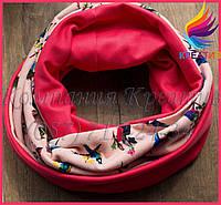 Яркий двусторонний шарф-снуд под заказ (от 50 шт)