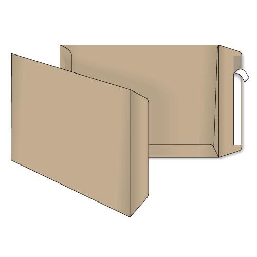 Конверт Е4 (0+0) крафт самоклеящийся с силиконовой лентой