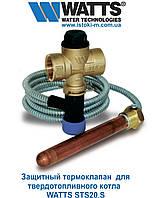 """Защитный термостатический клапан для твердотопливного котла WATTS STS20.S 3/4"""" ВР 97°С 2000мм, фото 1"""