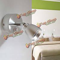 3вт LED алюминиевый настенный светильник с выключателем для внутреннего прикроватные коридор