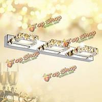 Современный трех глав 9 Вт LED кристалл зеркала настенные светильники для ванной комнаты