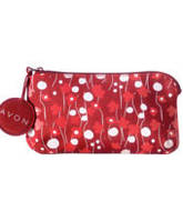 Мини сумочка для ключей красная, косметичка,ключница Avon, 37462