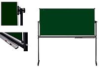 Оборотная Мобильная доска для мела, магнитная  2-х сторонняя,  90х120см