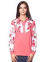 Больших размеров блуза-кофточка (3XL, 4XL)