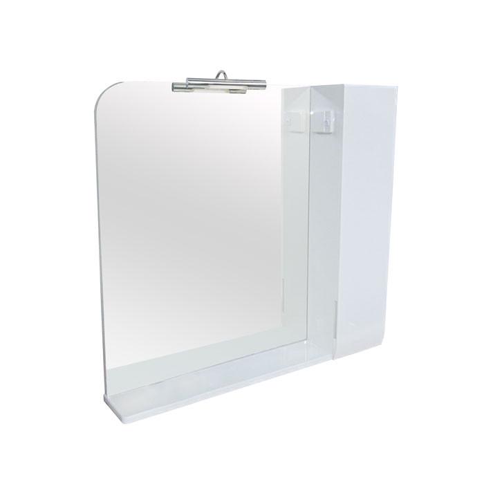 Зеркало Аква Родос Оскар 90 с подсветкой и шкафчиком