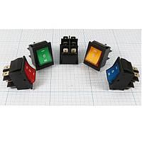 Переключатель с подсветкой IRS-203-1C ON-OFF-ON, 6pin, 15A, 220V, синий