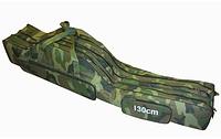 Чехол на три секции 1 метр Kaida, чехол для спиннингов с катушками, чехол рыболовный для удочек