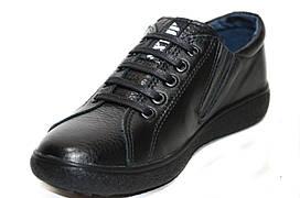Подростковые осенние кожаные туфли для мальчика