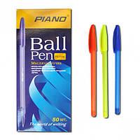 Ручка масляная Piano Neon PT-1158 (синяя)