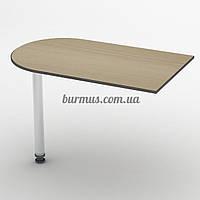 Приставной стол на металической ножке СПР-11, 100*60 , дуб молочный