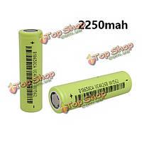 1шт 3.7v 2250мАh 18650 литий-ионная аккумуляторная батарея