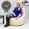 Кресло-Мешок ibiza M 80x80x60 см (ткань: Эко Кожа)