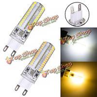 G9 35 Вт 220В 104 LED SMD 3014 белый/теплый белый LED кристалл кремния лампы