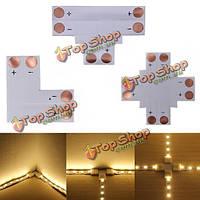 2-полюсная LED соединитель т-образную форму для угловой 10мм 5050 LED полосы света