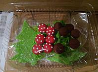 """Украшения для торта из мастики """"грибная полянка """""""