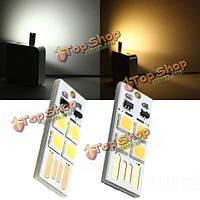 Светодиод 1W 50lm мини сенсорный выключатель USB Автомобильное зарядное устройство кемпинг LED свет лампы 3-7В