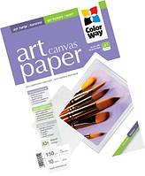 Фотобумага ColorWay 'Art', холст, для струйной печати, A3+, 150 г/м2, 10 л (PPA150010A3+)
