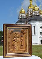 Икона деревянная резная Святителя Феодосия Архиепископ Черниговского, фото 1