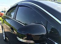 Дефлекторы окон (ветровики) Hyundai Sonata 2010 -> С Хром Молдингомом