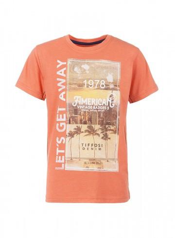 Португальский бренд, футболка с принтом на груди, TIFFOSI, Португалия, 116см