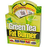 Сжигатель жира с зеленым чаем (Green Tea Fat Burner), Irwin Naturals, 30 желатиновых капсул