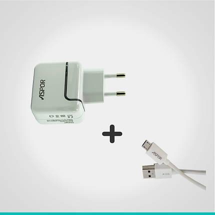 Комплект СЗУ + кабель на выбор Aspor №1, фото 2