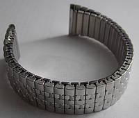 Браслет-резинка для часов серебро Б20