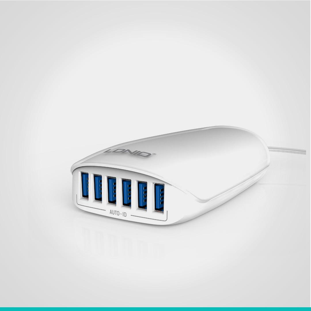 Сетевое зарядное устройство на 6USB выходов LDNIO